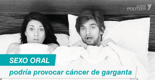 Sexo oral podría provocar cáncer de garganta